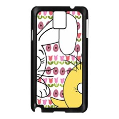 Easter bunny and chick  Samsung Galaxy Note 3 N9005 Case (Black)