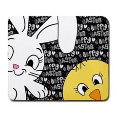Easter bunny and chick  Large Mousepads
