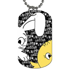 Easter bunny and chick  Dog Tag (One Side)