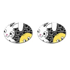 Easter bunny and chick  Cufflinks (Oval)
