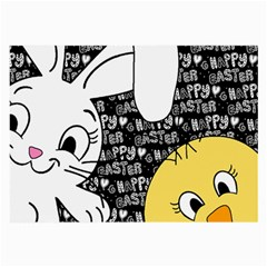 Easter bunny and chick  Large Glasses Cloth