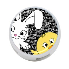 Easter bunny and chick  4-Port USB Hub (Two Sides)