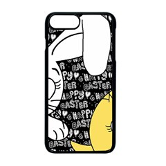 Easter bunny and chick  Apple iPhone 7 Plus Seamless Case (Black)