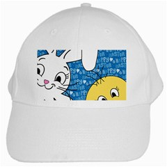 Easter bunny and chick  White Cap