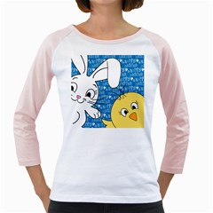 Easter bunny and chick  Girly Raglans