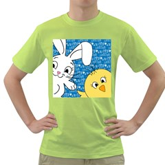 Easter bunny and chick  Green T-Shirt