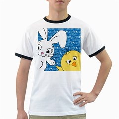 Easter bunny and chick  Ringer T-Shirts
