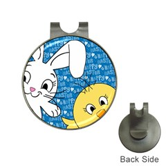 Easter bunny and chick  Hat Clips with Golf Markers