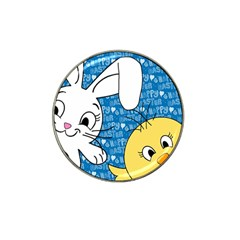 Easter bunny and chick  Hat Clip Ball Marker