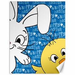 Easter bunny and chick  Canvas 12  x 16