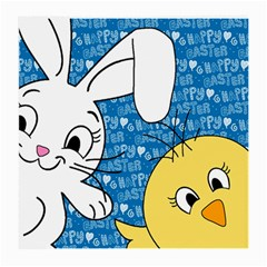 Easter bunny and chick  Medium Glasses Cloth