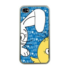 Easter bunny and chick  Apple iPhone 4 Case (Clear)