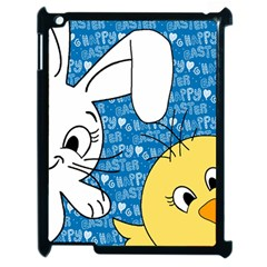 Easter bunny and chick  Apple iPad 2 Case (Black)
