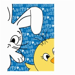 Easter bunny and chick  Small Garden Flag (Two Sides)