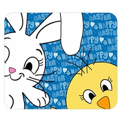 Easter bunny and chick  Double Sided Flano Blanket (Small)