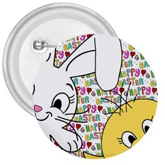Easter bunny and chick  3  Buttons