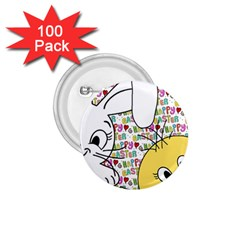 Easter bunny and chick  1.75  Buttons (100 pack)