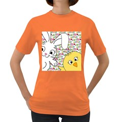 Easter bunny and chick  Women s Dark T-Shirt