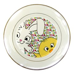 Easter bunny and chick  Porcelain Plates