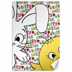 Easter bunny and chick  Canvas 12  x 18