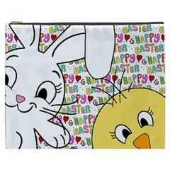 Easter bunny and chick  Cosmetic Bag (XXXL)