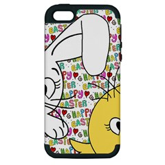 Easter Bunny And Chick  Apple Iphone 5 Hardshell Case (pc+silicone)