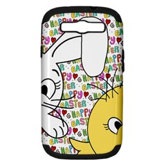 Easter bunny and chick  Samsung Galaxy S III Hardshell Case (PC+Silicone)