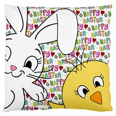 Easter bunny and chick  Standard Flano Cushion Case (Two Sides)