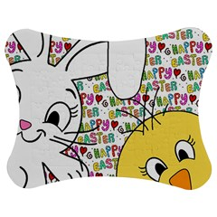 Easter bunny and chick  Jigsaw Puzzle Photo Stand (Bow)