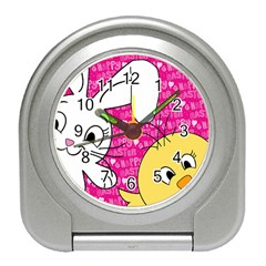 Easter bunny and chick  Travel Alarm Clocks