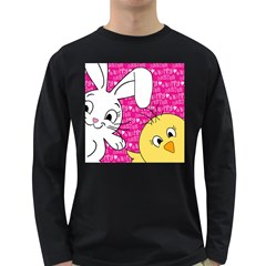 Easter bunny and chick  Long Sleeve Dark T-Shirts