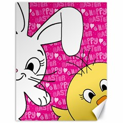 Easter bunny and chick  Canvas 18  x 24