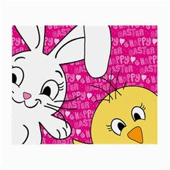 Easter bunny and chick  Small Glasses Cloth (2-Side)