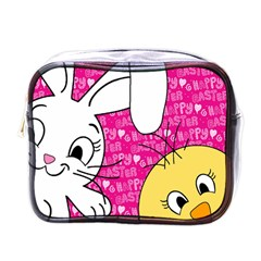Easter bunny and chick  Mini Toiletries Bags