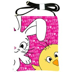Easter bunny and chick  Shoulder Sling Bags