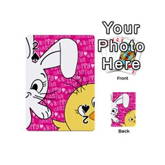 Easter bunny and chick  Playing Cards 54 (Mini)