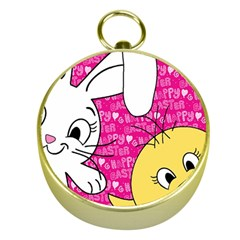 Easter bunny and chick  Gold Compasses