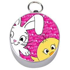 Easter bunny and chick  Silver Compasses