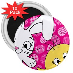 Easter bunny and chick  3  Magnets (10 pack)