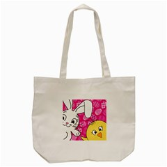 Easter bunny and chick  Tote Bag (Cream)