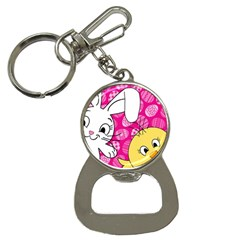 Easter bunny and chick  Button Necklaces