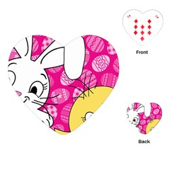 Easter bunny and chick  Playing Cards (Heart)