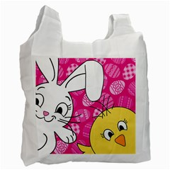Easter bunny and chick  Recycle Bag (One Side)