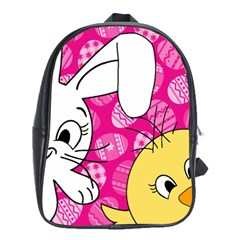 Easter bunny and chick  School Bags (XL)