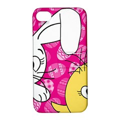 Easter bunny and chick  Apple iPhone 4/4S Hardshell Case with Stand