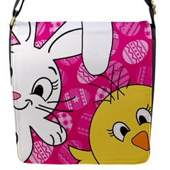 Easter bunny and chick  Flap Messenger Bag (S)