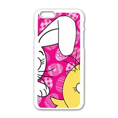 Easter bunny and chick  Apple iPhone 6/6S White Enamel Case