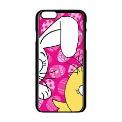 Easter bunny and chick  Apple iPhone 6/6S Black Enamel Case