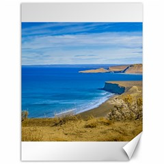 Seascape View From Punta Del Marquez Viewpoint, Chubut, Argentina Canvas 12  x 16
