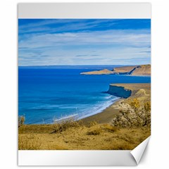 Seascape View From Punta Del Marquez Viewpoint, Chubut, Argentina Canvas 16  x 20